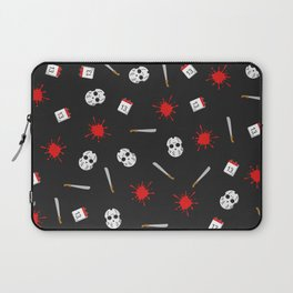 Friday the 13th pattern Laptop Sleeve