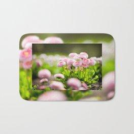 Bellis perennis pomponette called daisy Bath Mat