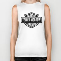 sons of anarchy Biker Tanks featuring SAMCRO Teller-Morrow of Charming (Sons of Anarchy / Harley-Davidson) by HuckBlade