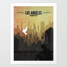 Blade Runner // Rick Deckard, Roy Batty, Los Angeles, Replicants Art Print