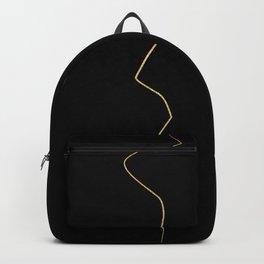 Kintsugi 1 #art #decor #buyart #japanese #gold #black #kirovair #design Backpack