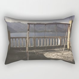 Swing on the lake Rectangular Pillow