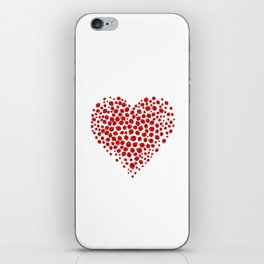 Ladybug heart iPhone Skin
