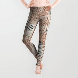 Neutral Palm Leaves / Nomade Mood Leggings