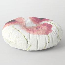 Vintage Poppies Floor Pillow