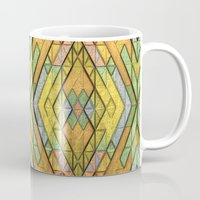 deco Mugs featuring Deco Diamonds by Lyle Hatch