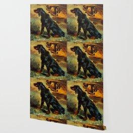 """Henri de Toulouse-Lautrec """"Dun, a Gordon Setter Belonging to Comte Alphonse de Toulouse Lautrec"""" Wallpaper"""