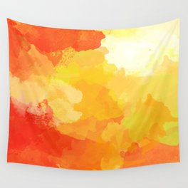 Colorful Abstract - red orange pattern Wall Tapestry