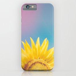 Sunflower Power - Retro Nature Photography iPhone Case