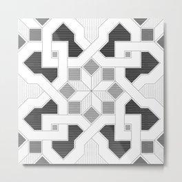 Oriental Pattern - Geometric Design - lines Metal Print