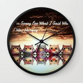 owl-203 Wall Clock