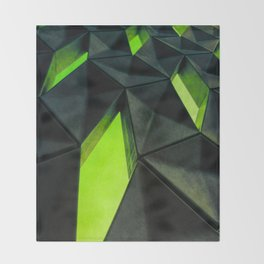 Dark Kryptonite by Brian Vegas Throw Blanket