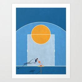 Shoot Hoops  Art Print
