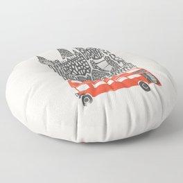 London Cityscape Floor Pillow