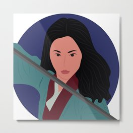 Mulan Warrior Princess Metal Print