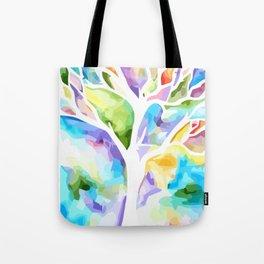 Rainbow tree life Tote Bag