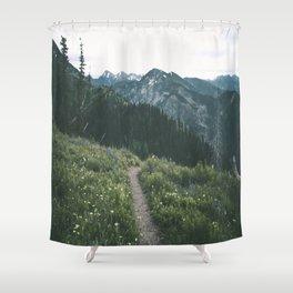 Happy Trails III Shower Curtain