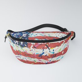 Born on the 4th of July, US Confetti Flag Fanny Pack
