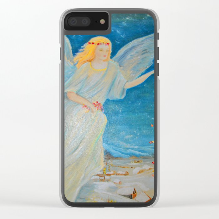 Bless me | Guardian Angels are Here | Angel of Abundance | Love Clear iPhone Case