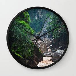 Peruvian Amazon II Wall Clock