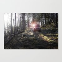 jeep Canvas Prints featuring Jeep by Allen Carroll Cook