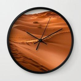 Desert landscape. Sahara Wall Clock
