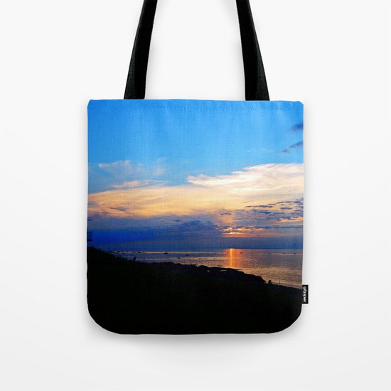 Sunset Balcony silhouette Tote Bag