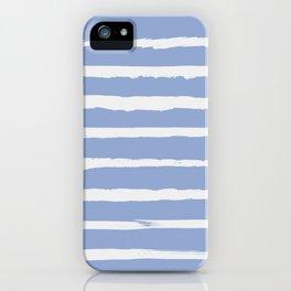 Irregular Hand Painted Stripes Light Blue iPhone Case