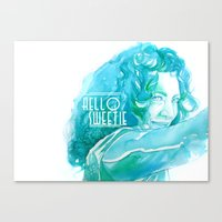river song Canvas Prints featuring River Song by Erin Garey