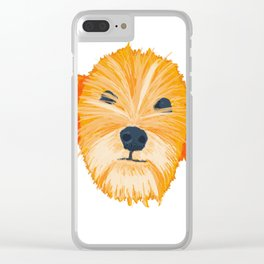 terrier - wht Clear iPhone Case