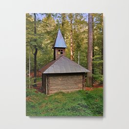 The old chapel in the forest | architectural photography Metal Print