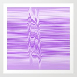 Glitched flowing ultra-violet stripes Art Print