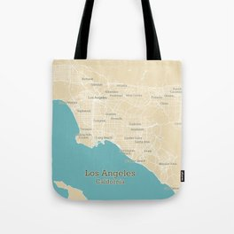 Los Angeles Stylish Functional City Map Tote Bag