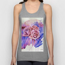 A ROSE BY ANY OTHER NAME- RED & BLUE  Unisex Tank Top