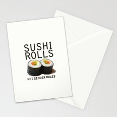 Sushi Rolls Not Gender Roles Feminist Stationery Cards