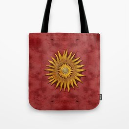 """""""Aztec Sun and pickled coral"""" Tote Bag"""