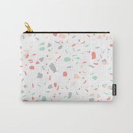 Pastel terrazzo minimal pattern trendy home office wall art gender neutral Carry-All Pouch