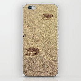 Footprints in the Sand in my Walk on the Beach iPhone Skin