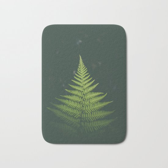Fern Leaf Green Bath Mat