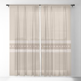 Ribbon 9 Sand Sheer Curtain