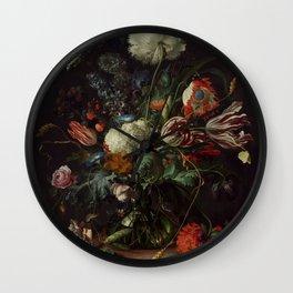 """Jan Davidsz. de Heem """"Vase of Flowers"""" Wall Clock"""