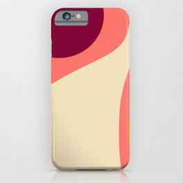 abstract composition 2 - modern blush pink iPhone Case