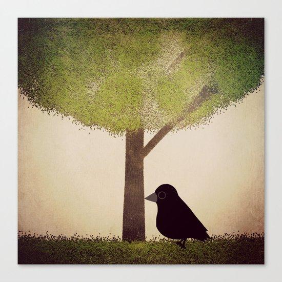 Crow-196 Canvas Print