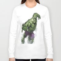 hulk Long Sleeve T-shirts featuring Hulk  by Isaak_Rodriguez