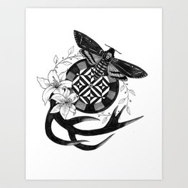 Acherontia Atropos - Hannibal Art Print