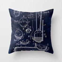 Ice Cream Scoop Blueprint Throw Pillow
