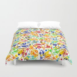 Candy Colored T@Bs Duvet Cover