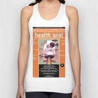 health Tank Tops featuring Junxploitation Poster (Health Spa) by Hobo&Arrow