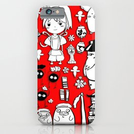 Spirit Away Characters iPhone Case