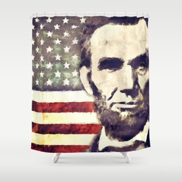 Patriot President Abraham Lincoln Shower Curtain